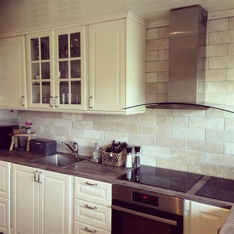Ikea bodbyn kitchen   Kitchens   Pinterest   Travertine
