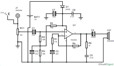 Subwoofer Amplifier Circuit Diagram Using Tda