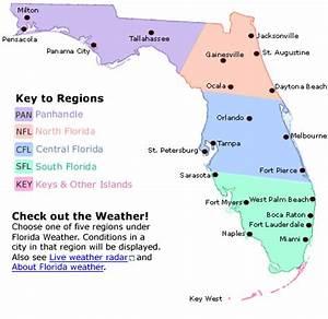 Florida Regions Map - Florida eco travel guide