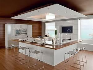 7 idees pour amenager une cuisine avec style travaux With meuble bar pour cuisine ouverte 7 cuisine noire et bois un espace moderne et intrigant
