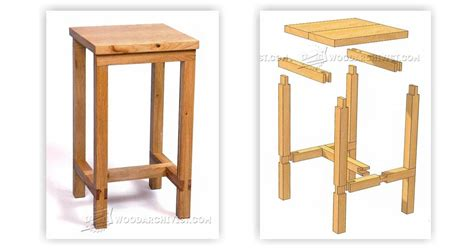 bench stool plans woodarchivist