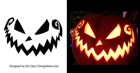 5 free scary pumpkin carving patterns stencils