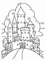 Coloring Pages Castle Dragon Castles Printable Dragons Getcolorings Print sketch template