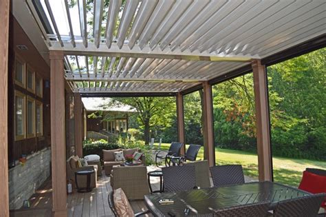 arcadia louvered roofs for decks contemporary outdoor