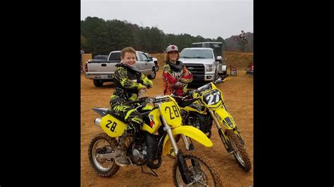 Nathan's First Dirt Bike Race With Friends!!