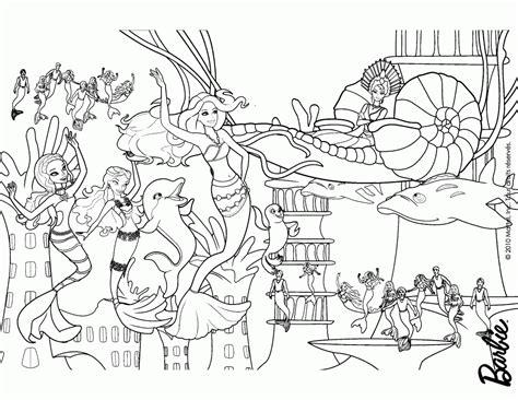 Barbie Mermaid Coloring Page Coloring Home