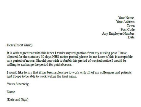 formal resignation letter  nurse learnistorg