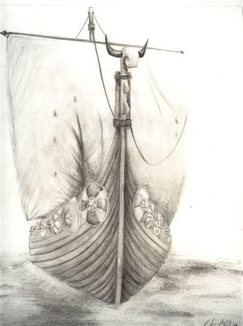 Viking Boat Drawing by Viking Ship Search Clip