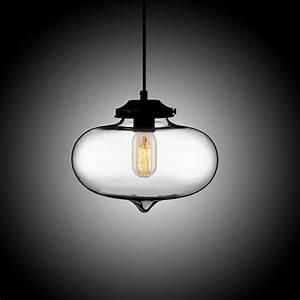 Single edison bulb hand blown glass mini lantern fixture