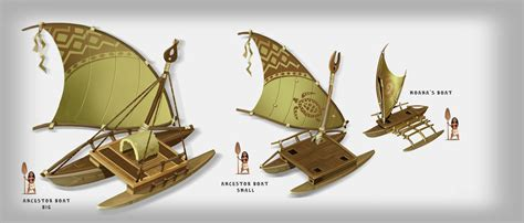 Moana Boat by Boats Based On A 3d Model By Damian Buzugbe Concept