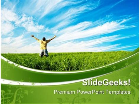 person enjoying freedom nature powerpoint templates