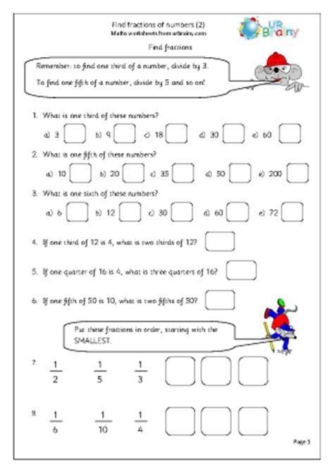 find fractions  numbers  fraction worksheets