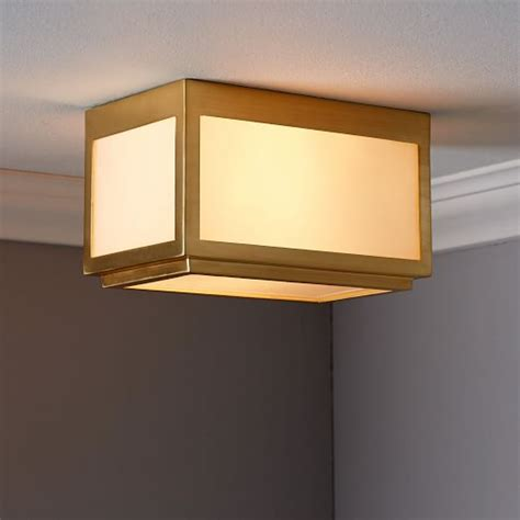 classic cubic flushmount sconce rectangle west elm