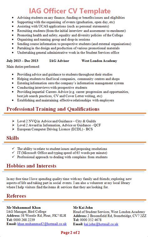 Cv Writing Tips by Guidance For Cv Writing