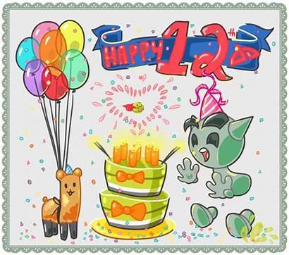 Birthday Happy 12th Cake Wishes Wish Candle