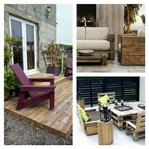 Salon Exterieur Palette : palettes bois meubles exterieur accueil design et mobilier ~ Teatrodelosmanantiales.com Idées de Décoration