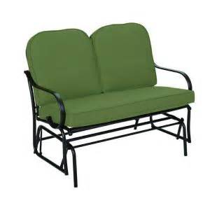 Home Depot Patio Bench Cushions hampton bay fall river patio double glider with moss