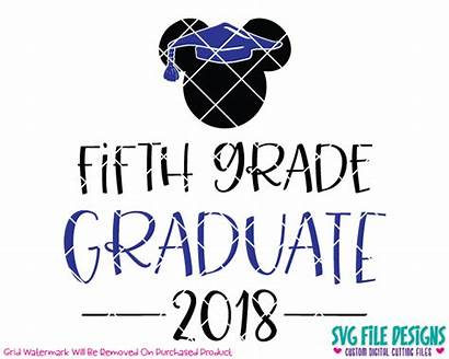 Grade Graduate Mickey Svg Fifth Mouse Fourth