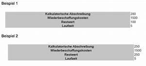 Kalkulatorische Miete Berechnen : kalkulatorische abschreibungen berechnen ~ Themetempest.com Abrechnung