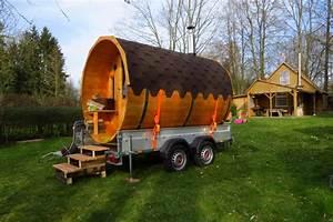 Gebrauchte Sauna Kaufen : mobile fass sauna f r jeden wunschort so gelingt der aufbau ~ Whattoseeinmadrid.com Haus und Dekorationen