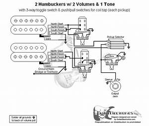 Double Coil Pickup Humbucker 3 Way Switch Wiring Diagram