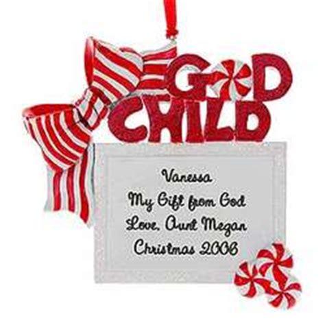 personalized christmas ornament godchild gift box