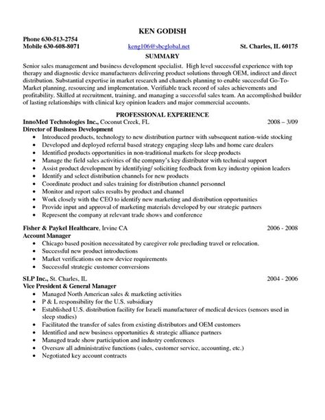 Resume Summary Exles Entry Level by Sle Resume Entry Level Pharmaceutical Sales Sle