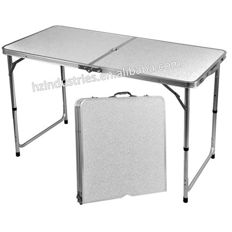outdoor aluminum folding picnic table with umbrella for