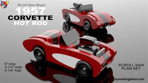 wood toy plans  corvette hot rod youtube