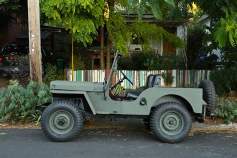 jeep old old parked cars 1949 willys cj 2a army jeep