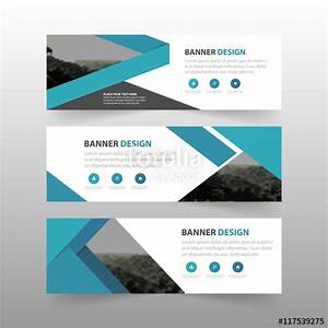 """""""Blue abstract triangle corporate business banner template ..."""