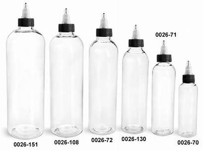 Plastic Bottles Clear Twist Caps Pet Round