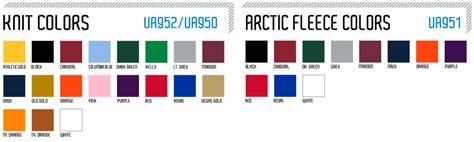 armour color codes armour custom fleece beanie elevation sports