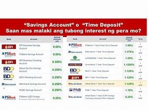Banks With Highest Interest Rate For Time Deposit and ...