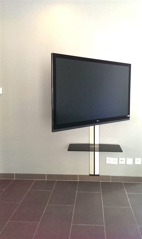 installation support tv mural installation t 233 l 233 sur support articul 233 le vogel s