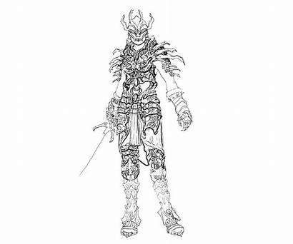 Skyrim Coloring Dragon Elder Scrolls Armor Daedric