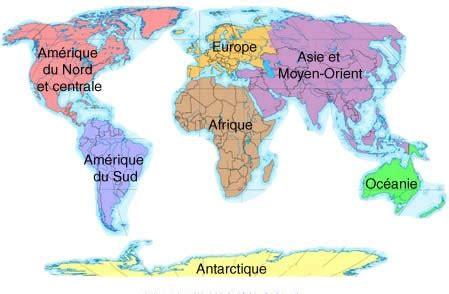 Carte Du Monde Simple by La Geographie Facile
