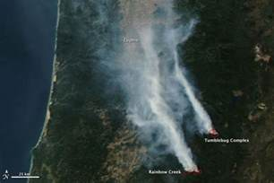 Oregon Wildfires Satellite