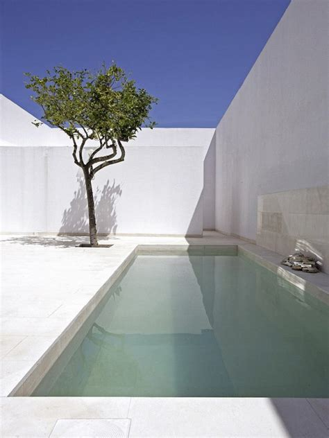 minimalist swimming pool designs  small terraced houses