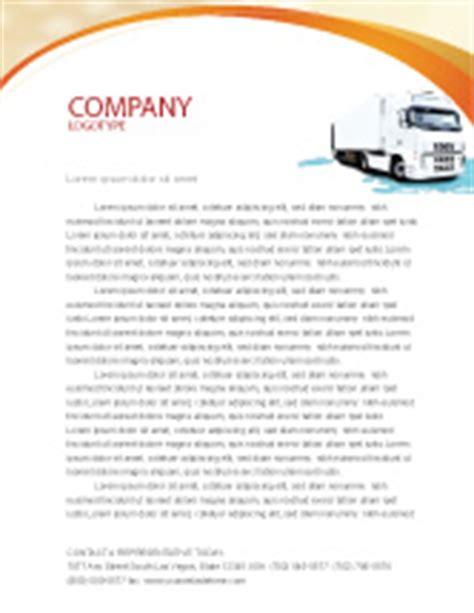 truck tractor letterhead template layout  microsoft