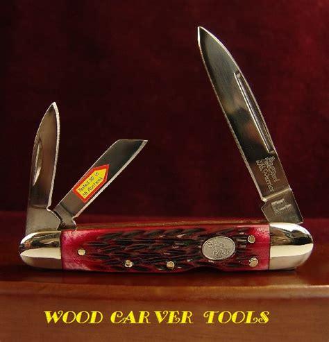 wood carver tools red jigged bone bl whittling pocket