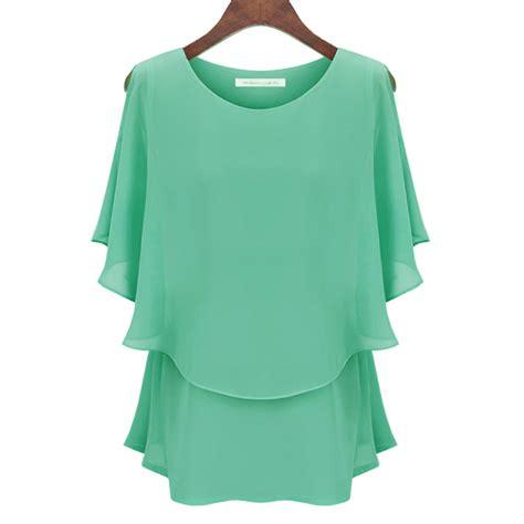 womens plus blouses aliexpress com buy tops yellow chiffon blouse