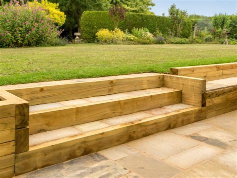 Wooden Sleepers by Wooden Sleepers For Retaining Walls New Driveway Company