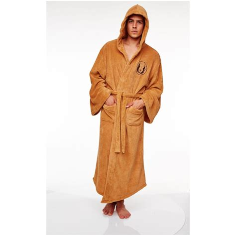 wars jedi fleece bathrobe one size iwoot