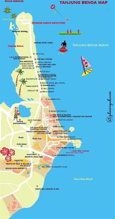 tanjung benoa map info tempat wisata  indonesia bali