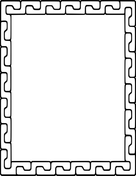 clipart images interlocking pieces frame page frames simple ornamental