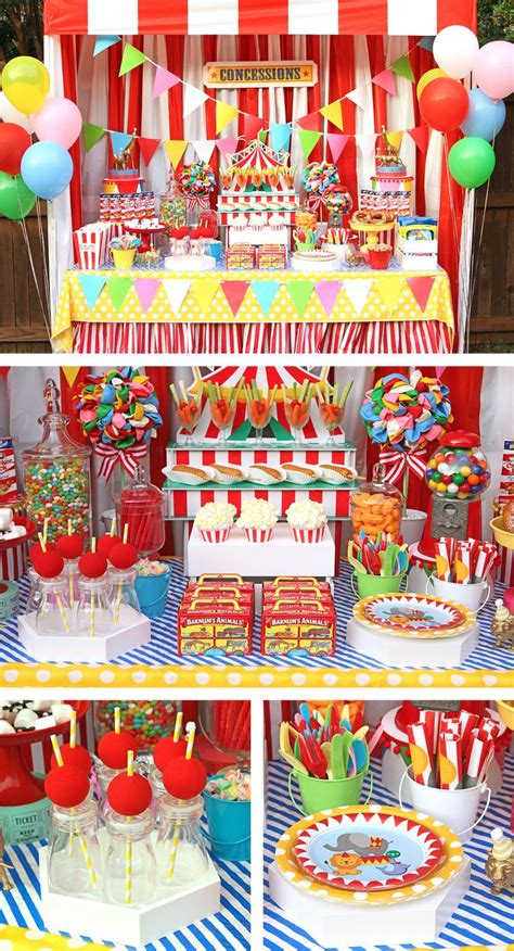 circus  carnival party ideas images