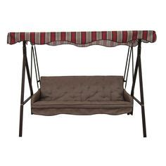 garden treasures 3 seat steel traditional cushion hammock