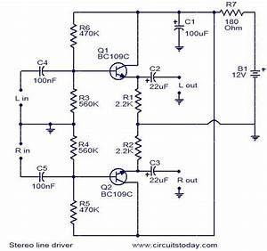 Stereo Line Driver Circuit