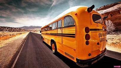 Bus Wallpapers Road Desktop Background Backgrounds Travel